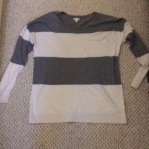 Stripped pocket long-sleeve tee
